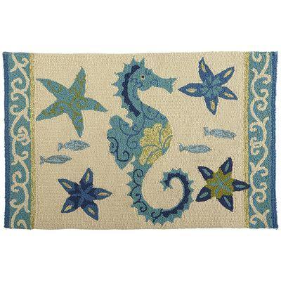 Seahorse Rug Home Decor