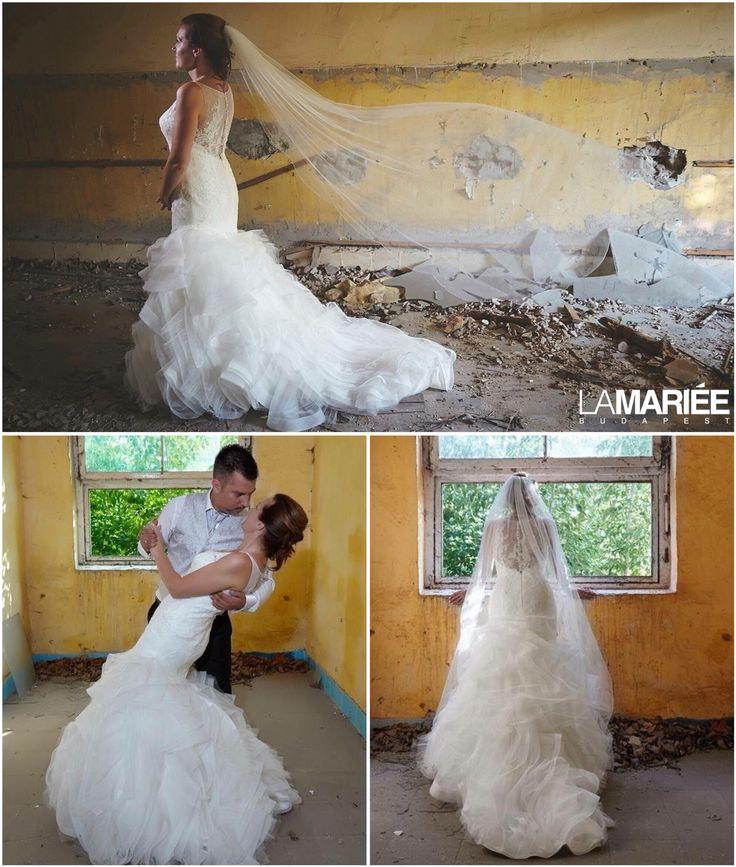 Maku esküvői ruha - Pronovias kollekció - Adrienn menyasszonyunk  http://mobile.lamariee.hu/eskuvoi-ruha/pronovias-2015/maku