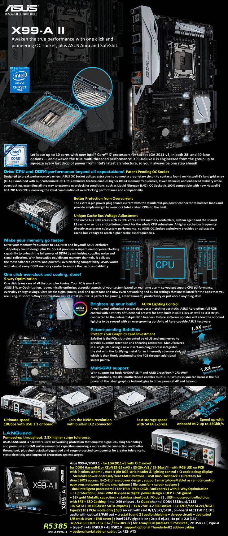 Asus X99-A/USB3.1 - for LGA201