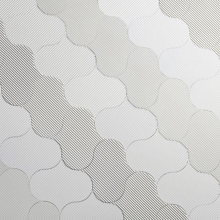 PLASTIC LOUVRE ORGANIC WHITE FLAT