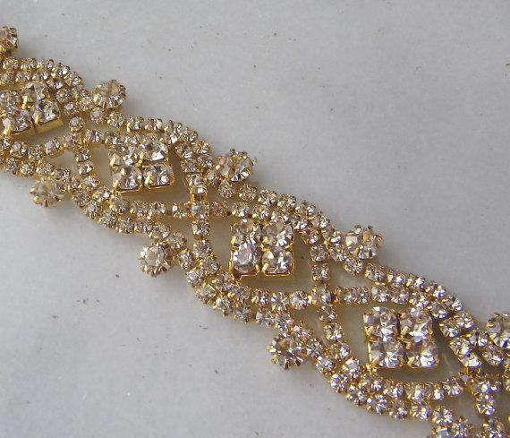 Gold Rhinestone Bridal Sash Crystal Wedding Belt 23 Of Rhinestones