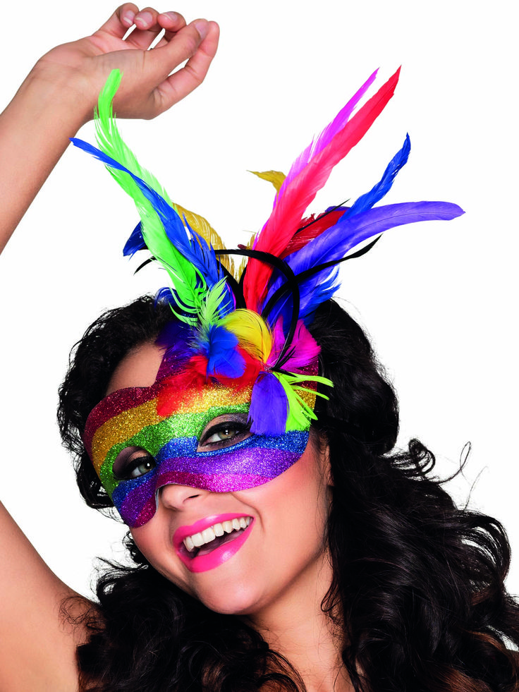 antifaz veniciano multicolor con plumas adulto fasching pinterest dschungel fasching und. Black Bedroom Furniture Sets. Home Design Ideas