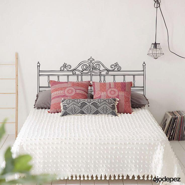 Vinilo decorativo Home 010: Respaldar para cama de 2 plazas. Vinilos decorativos Vinilos adhesivos Wall Art Stickers wall stickers