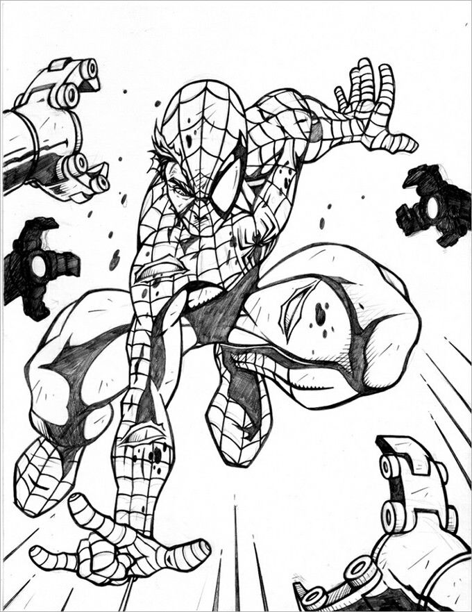 Spiderman coloring pages magic color book
