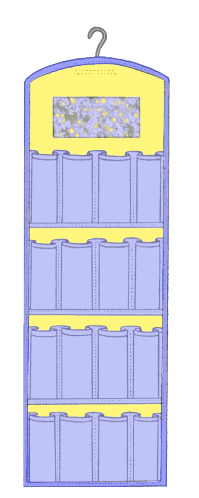 Great Storage/Organizing for sewing/quilting items.  Make this free pattern with see-through pockets for easy viewing. #quilting #sewing
