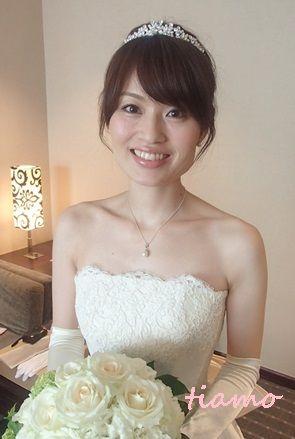 綺麗めナチュラルアップからサイドダウン♡美人花嫁さまの素敵な一日  大人可愛いブライダルヘアメイク『tiamo』の結婚カタログ Ameba (アメーバ)