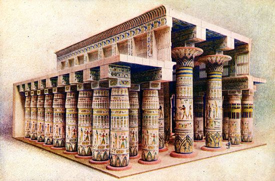 Ancient Egypt Temples - Hall of Columns at Karnak