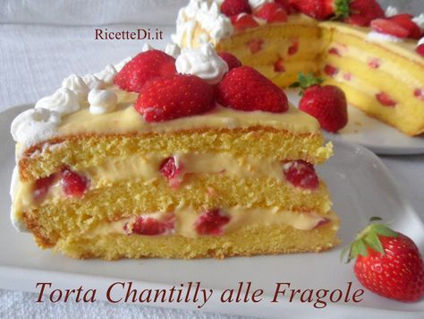 torta chantilly alle fragole di Elisa.