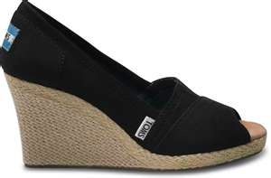 Toms black wedge... If I'm gonna wear heels, I'd rather it be wedges, and the fact that these are Toms are icing on the cake!