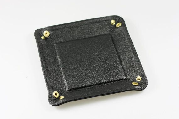 Leather Valet Tray Catch All Travel Tray Set by MISHKAbags