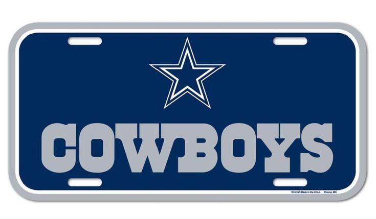 $14.99--Dallas Cowboys License Plate – Fan Shop HQ