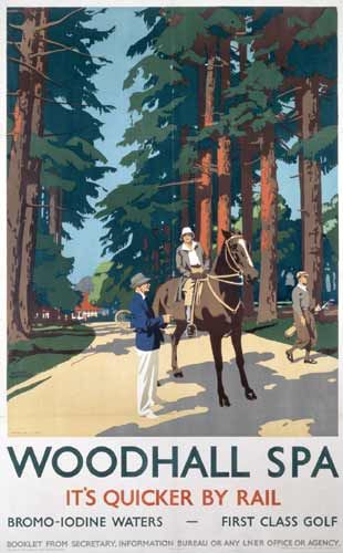 1920's London & North Easter Railway (LNER) poster depicting the Spa Baths at Woodhall Spa.