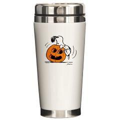 Snoopy Jack O' Lantern Ceramic Travel Mug> Snoopy Jack O' Lantern> Snoopy Store