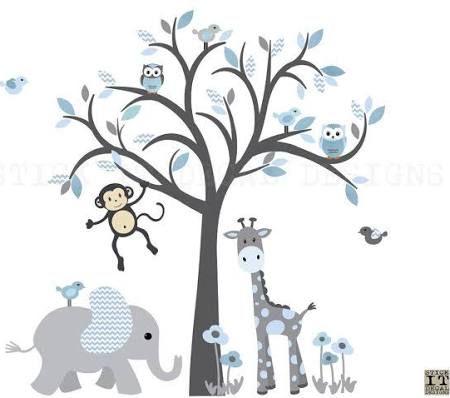 P es 1000 n pad na t ma stickers arbre na pinterestu d coration chambre b b d coration - Stickers koala chambre bebe ...