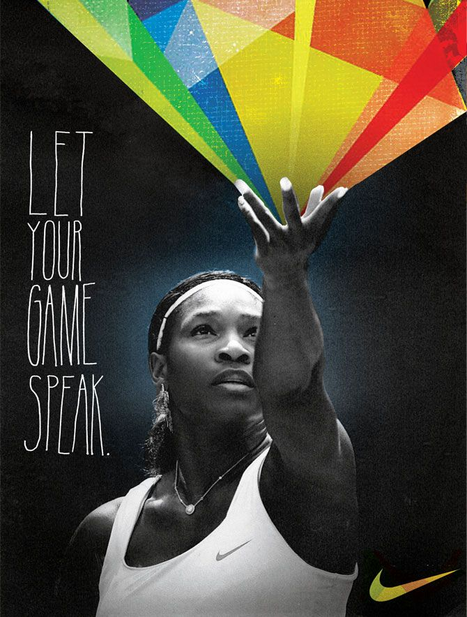 "Nike tennis ""Let your game speak""  Australian Open by Kelly Dorsey"