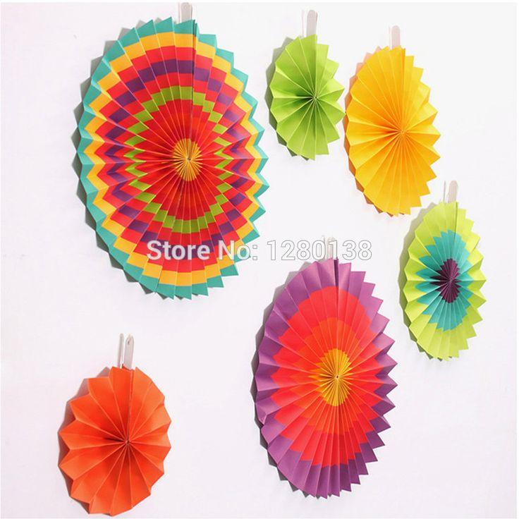 10 packs Fiesta Papier Fan Decoraties Wedding Achtergrond Fan cinco de Mayo…