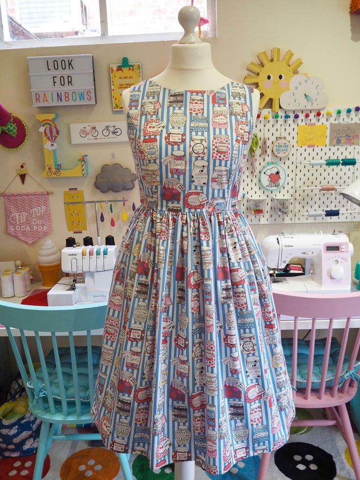 Made to Order Sweet Jars Dress - Ladies Handmade Dress