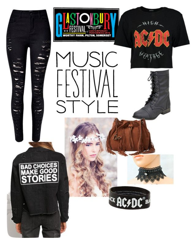 """""""ACDC at Glastonbury music festival"""" by demonhunter101 ❤ liked on Polyvore featuring Boohoo, WithChic and Diane Von Furstenberg"""