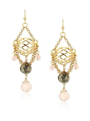 54% OFF Helene Caged Au Naturelle Chandelier Earrings