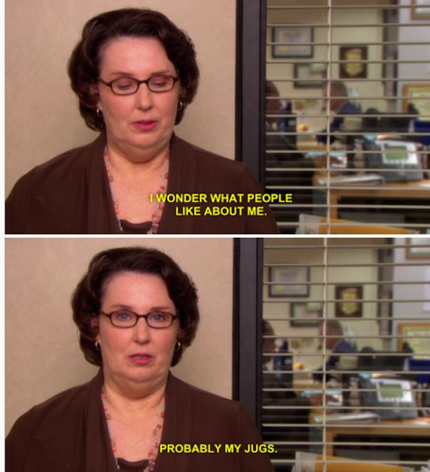 "When Phyllis had the answer to her own question: | 29 Quotes From The Ladies Of ""The Office"" That Still Are Hilarious"