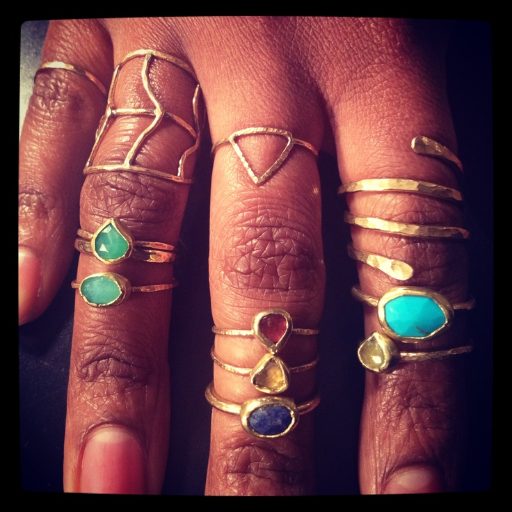 Stacks and stacks and stacks of my very first rings.... #jewelry