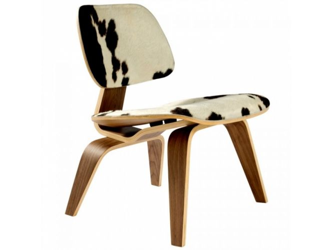 Eames Plywood LCW Lounge Chair, Pony Skin