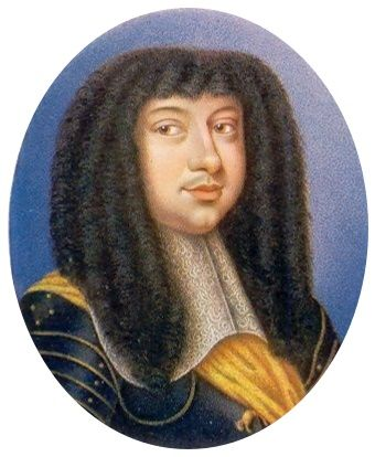 Copy of miniature of Michael Korybut Wiśniowiecki by Paul Prieur, 1912 after original from 1670 (PD-art/old), Private collection, the miniature was commissioned by King Frederick III of Denmark