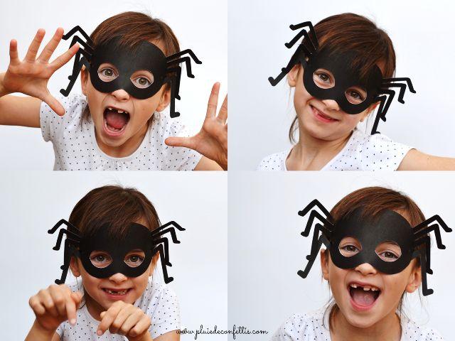 Pour Halloween, déguisez-vous en araignée grâce à ce masque gratuit à imprimer!