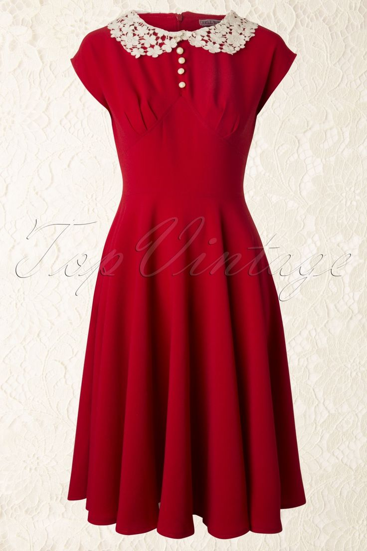 Hell Bunny - 40s Emilie Dress in Red. I wore this dress yesterday and it's a beautiful dress! ~