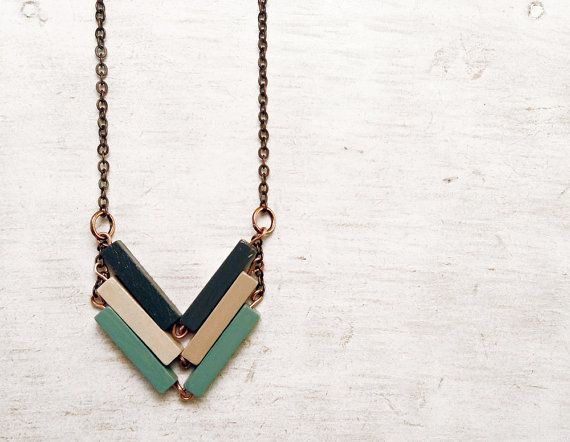 Chevron Halskette / / URBAN LEGEND / / Minimal von Valentinolandia