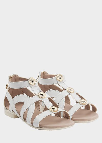 Medusa Head Zip Sandals - Young Versace Accessories