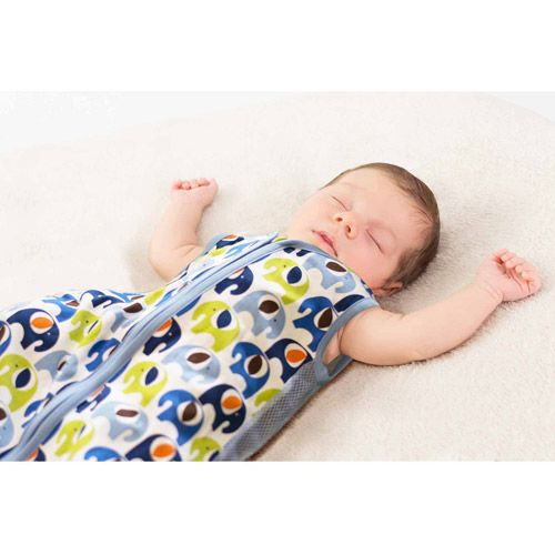 Bananafish Studio Slumber Sack, Elephant (00092317111326) Bananafish Studio Slumber Sack, Elephant: This baby sack is a cuddle and wear blanket Mesh side panels and a sleeveless design The Bananafish Studio Slumber Sack zips open from the feet for easy diaper changes Top of the zipper is covered to ensure baby's comfort Made from 100 percent cotton The elephant baby sleep sack is machine washable Imported Questions about product recalls? Items that are a part of a recall are removed from the…