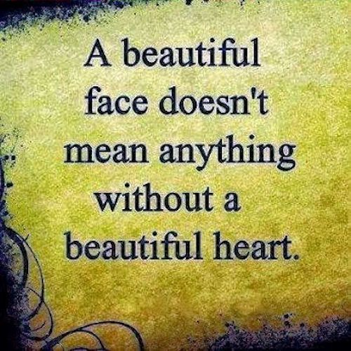 a beautiful face quotes quote heart truth beauty quotes and sayings image quotes
