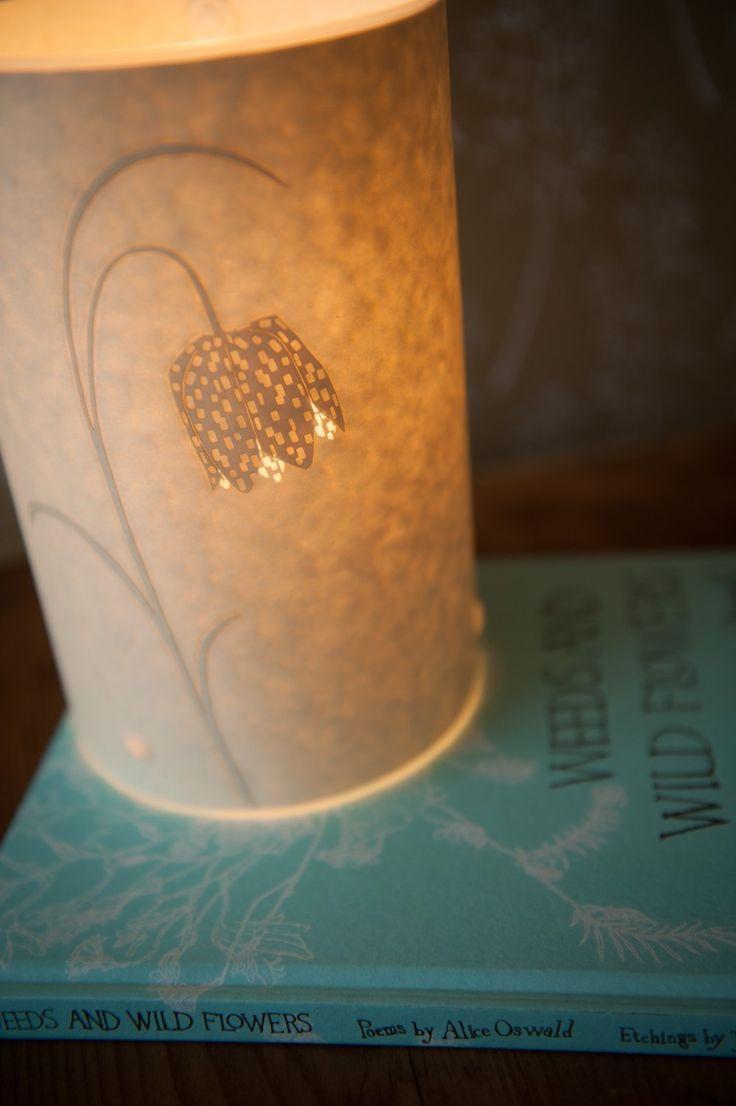 Fritillary table lamp by Hannah Nunn. Photo by www.sarahmasonphotography.co.uk