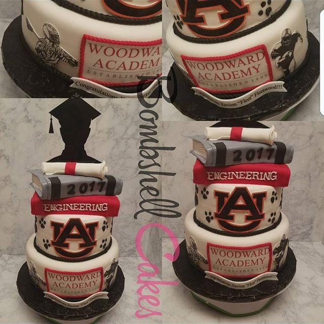 Woordward academy Auburn bound grad cake #woodwardacademy #auburn #au #auburnuniversity #wareagle #lacrosse #football #graduationcake #fatdaddios #bookcake #gradcake #auburncake #jbcutoutoflove #jbcookiecutters #bombshellcakes #customcakes #atlantacakeartist #atlcakes #cakesinatl #cakesinga #cakesingeorgia #highschoolgraduation #co2017 #classof2017