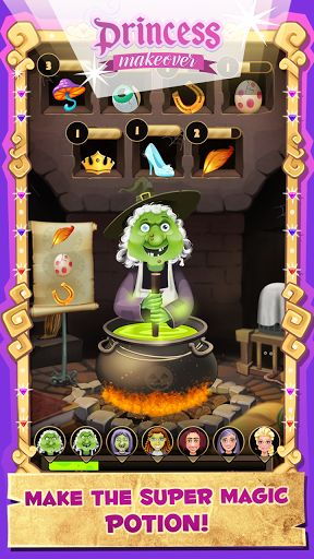 ** In the dungeons of the enchanted magic castle in a faraway fairy kingdom, a mysterious witch is making potions day