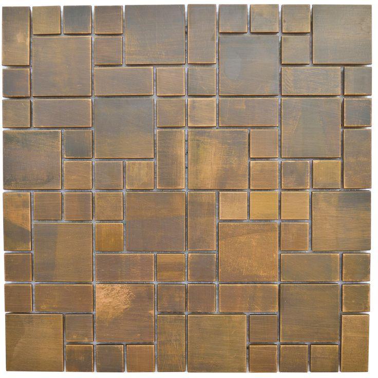 Cobblestone Backsplash 57 best stainless steel & copper mosaic tile - product catalog