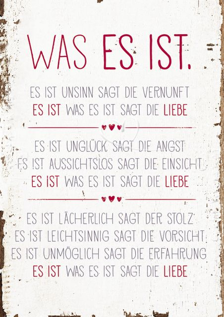 Was es ist. | Erich Fried