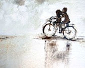 Ride with me ART PRINT by Alida Bothma