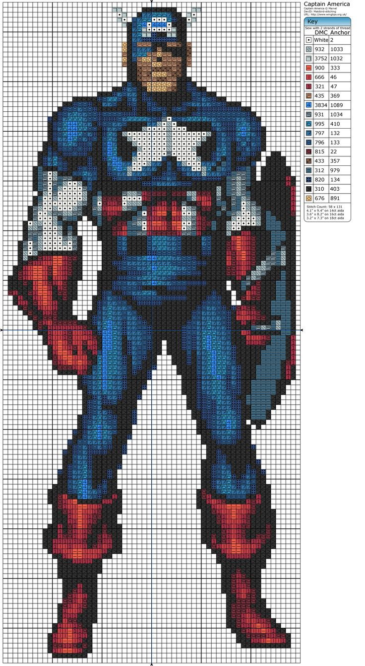 Click the image to enlarge, right click and select Save As to download the pattern. To see what it'll look like stitched, check out what other people have made below.