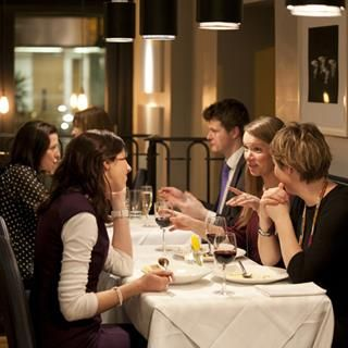 Lunch for 4 in BANG Restaurant.  BANG Restaurant is located just off St. Stephen's Green at 11 Merrion Row, Dublin 2