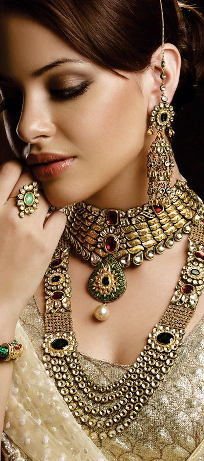 Indian Jewellery, bridal jewellery, kundan gold