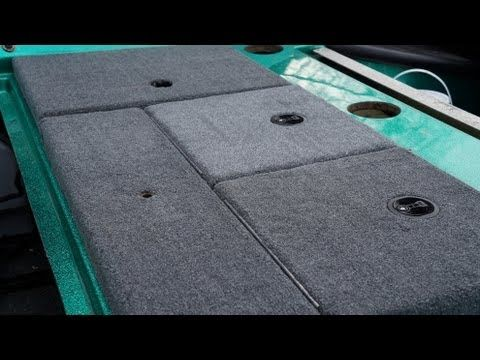 Bass Boat Carpet Replacement - How To - Part II - Storage Compartment Lids - YouTube