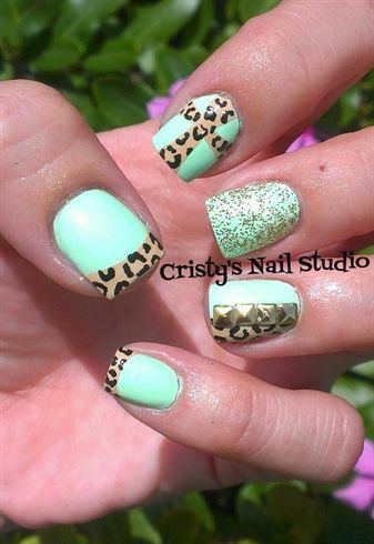 Mint Green Cross Trend by cristy27 from Nail Art Gallery