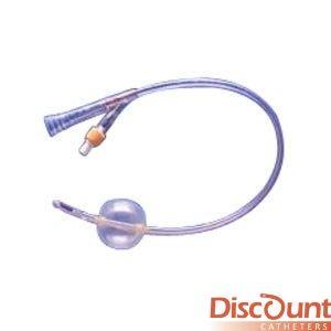 Teleflex Rusch - 442618 - Soft Simplastic Coude 2-Way Foley Catheter 18 Fr 30 cc