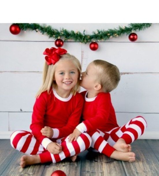 Adorable new Pjs for CHRISTMAS!!! kids pjs in 3 different stripes as shown in the listing photos!! *** Only sizes 3T, 12, and doll pjs