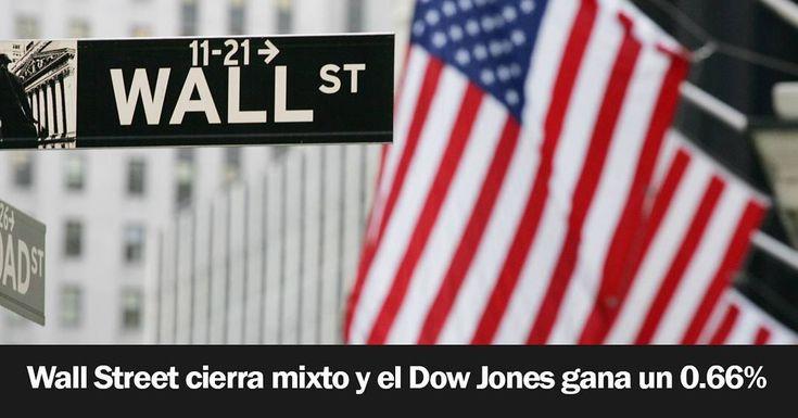Wall Street cerró hoy mixto y el Dow Jones de Industriales avanzó un 0.66 % tras una jornada generalmente positiva favorecida por un buen dato del mercado laboral aunque perdió impulso hacia el final. Al cierre de la sesión el principal indicador de la bolsa de Nueva York subió 164.70 puntos hasta 24962.48 enteros mientras que el selectivo S&P 500 progresó un 0.10 % o 2.63 unidades y terminó el día en 2703.96 cuando iba encaminado a mayores ganancias. La jornada anterior fue volátil influida…
