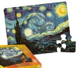 Masterpiece Puzzle For Young Children: Starry Night Puzzle - Van Gogh