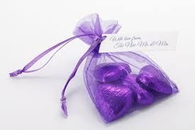 Image result for purple wedding favours