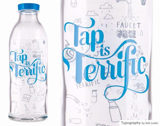 water glass bottles.